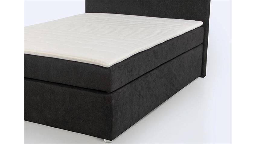 boxspringbett aton bett schlafzimmerbett in schwarz 140x200. Black Bedroom Furniture Sets. Home Design Ideas