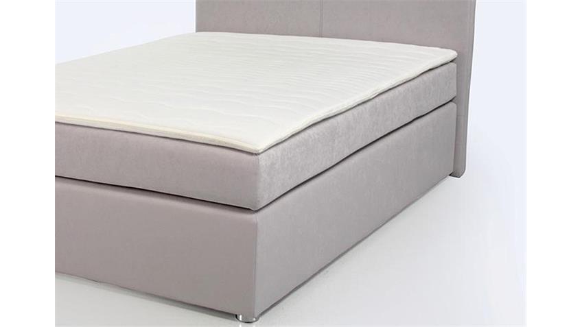 Boxspringbett ATON Bett Schlafzimmerbett hell grau 140x200