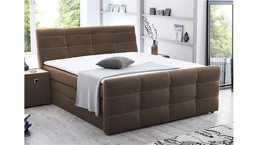 boxspringbett grande bett in braun 180x200 produktvideo. Black Bedroom Furniture Sets. Home Design Ideas