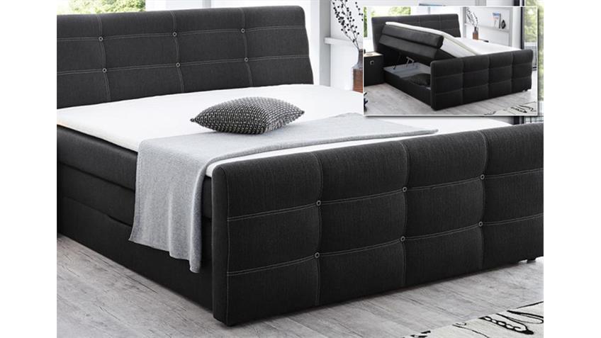 Boxspringbett GRANDE Bett in grau 180x200 -> Produktvideo