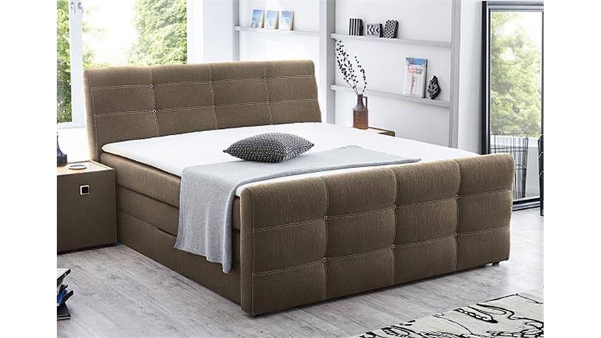 boxspringbett grande hell braun 180x200 cm produktvideo. Black Bedroom Furniture Sets. Home Design Ideas