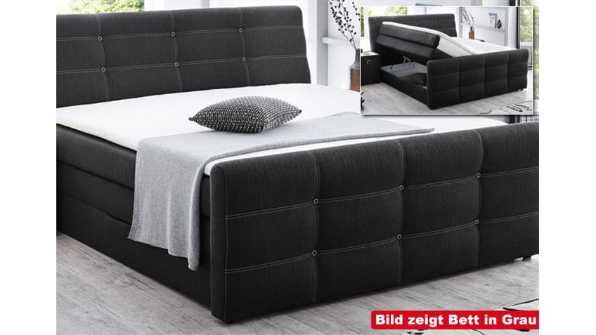 Boxspringbett GRANDE hell Braun 180x200 cm -> Produktvideo