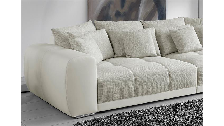 big sofa sam polsterm bel xxl sofa in wei grau beige 310. Black Bedroom Furniture Sets. Home Design Ideas