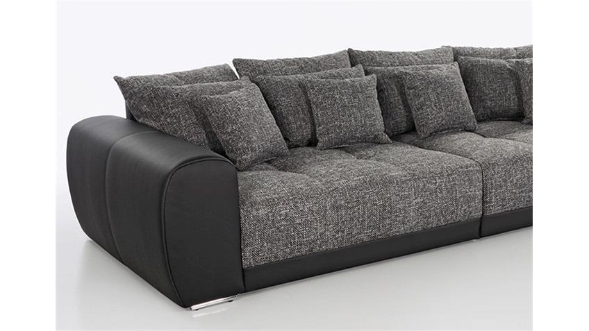 Big Sofa SAM Polstermöbel XXL Sofa in schwarz grau 310 cm