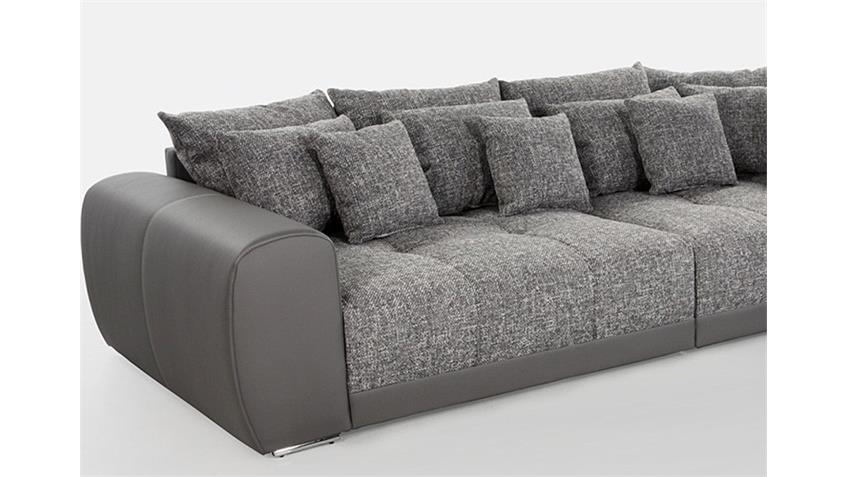 Big Sofa SAM Polstermöbel XXL Sofa in grau hellgrau 310 cm