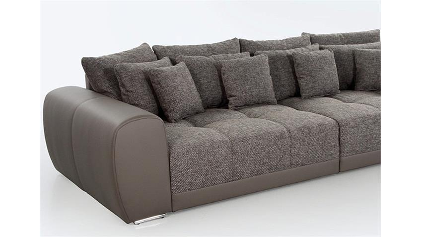 Big Sofa SAM Polstermöbel XXL Sofa in Elefant Schlamm 310