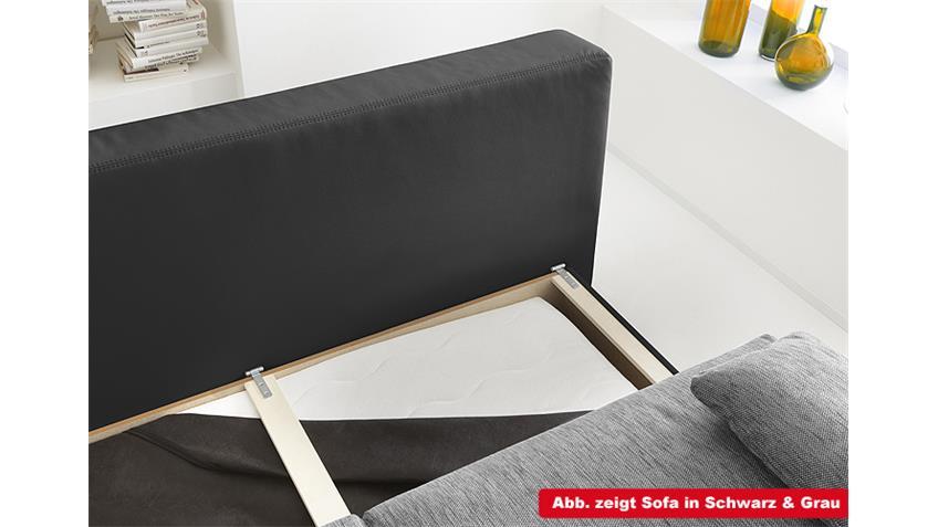 Schlafsofa DORSET Sofa Boxspring in weiß und grau 202 cm