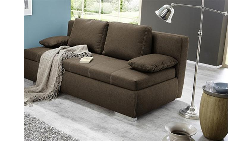 boxspring schlafsofa memphis sofa dauerschl fer in braun. Black Bedroom Furniture Sets. Home Design Ideas