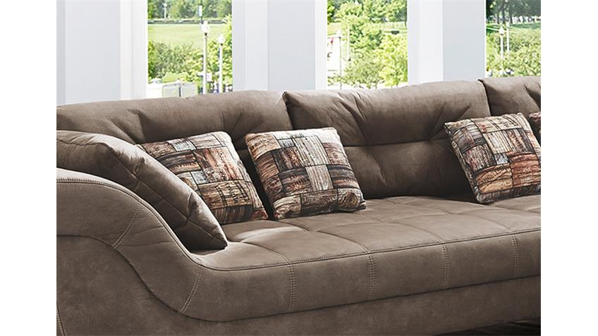 wohnlandschaft san francisco sofa ecksofa in antikbraun. Black Bedroom Furniture Sets. Home Design Ideas