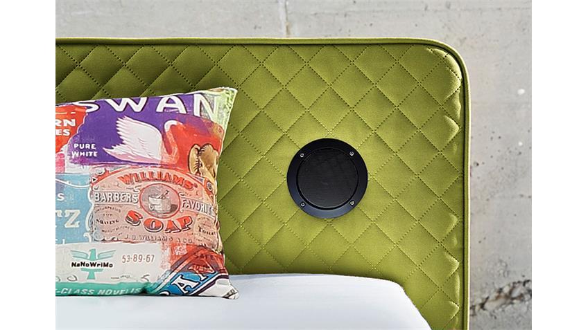 Boxspringbett SARDINIEN Bett in grün mit Audiosystem 140x200