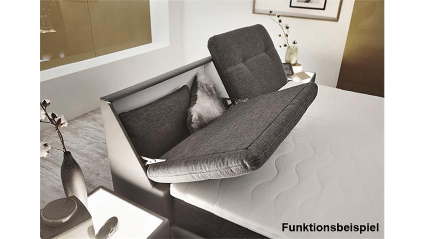 Boxspringbett 180x200 VICTORIA Bett in grau und weiß