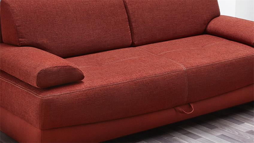 Funktionssofa ANGELOSA Schlafsofa Sofa in rot 200 cm