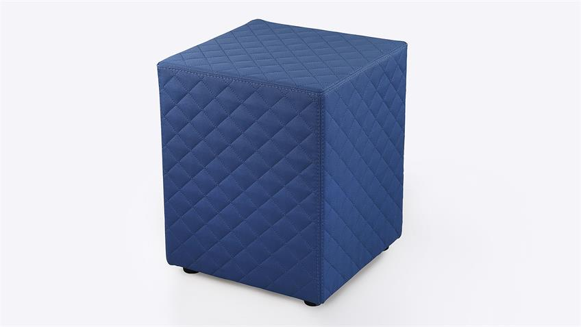 Nachtkommode LINGEN Nako Kommode in blau Boxspringdesign