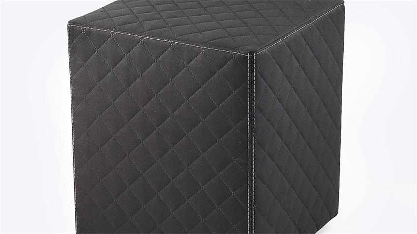 Nachtkommode LINGEN Nako Kommode in schwarz Boxspringdesign