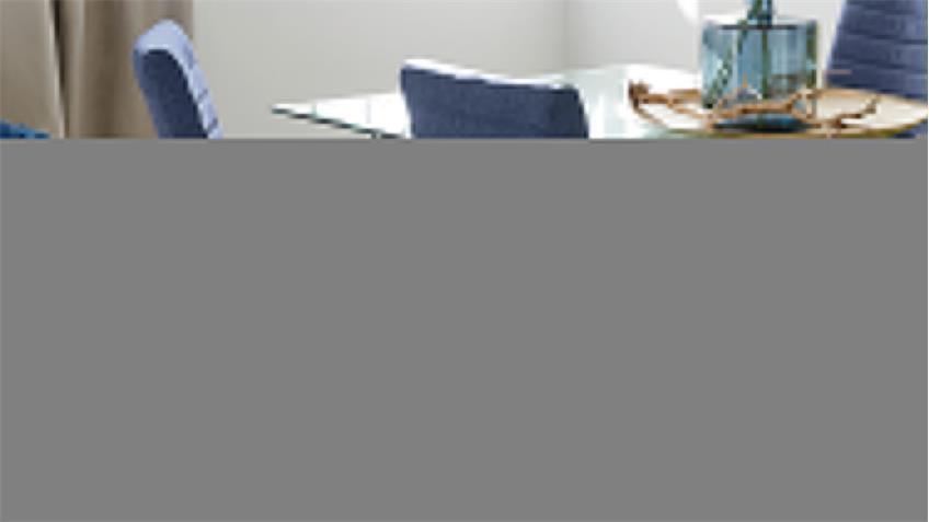 Schwingstuhl PRAG 4er-Set in blau Gestell verchromt