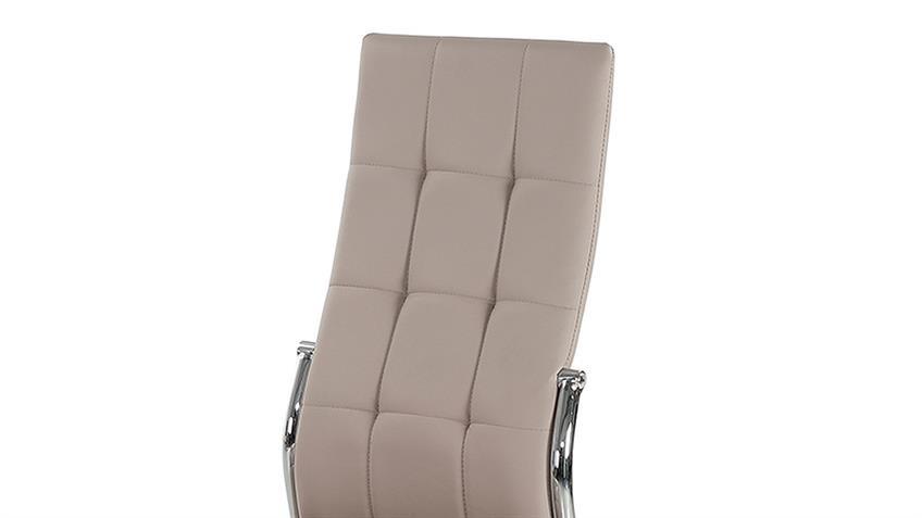 Stuhl Freiburg 4er-Set Esszimmerstühle in greige mit Karosteppung