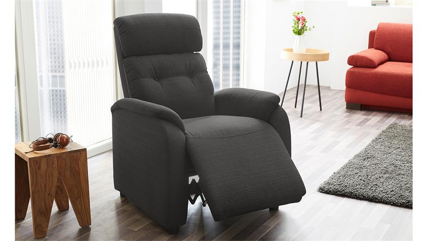 Fernsehsessel TUCSON Sessel in grau inkl. Liegefunktion