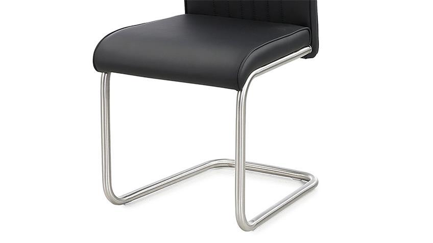 Schwingstuhl POOL 4er-Set Stuhl schwarz und Edelstahl