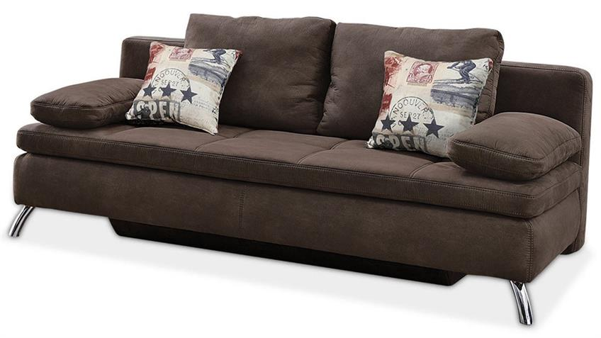 schlafsofa jamaika sofa in dunkelbraun. Black Bedroom Furniture Sets. Home Design Ideas