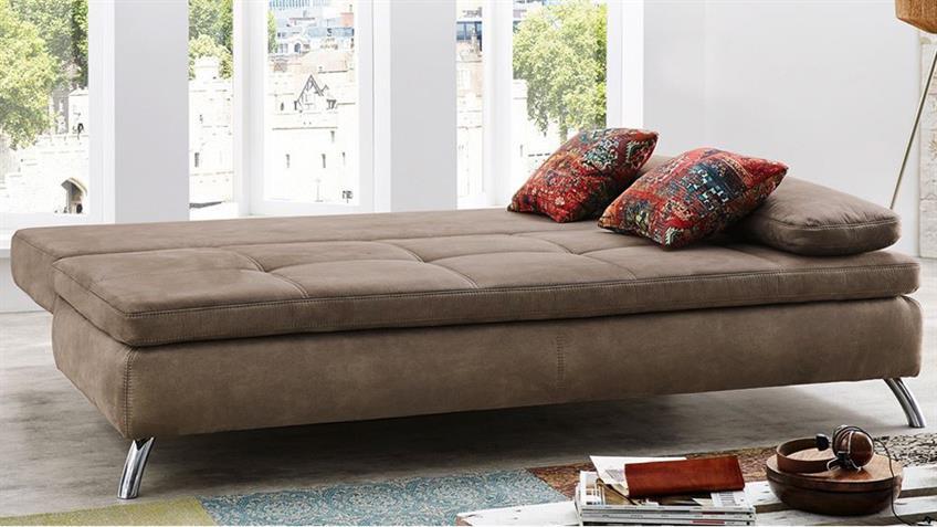 Schlafsofa JAMAIKA Sofa in hellbraun