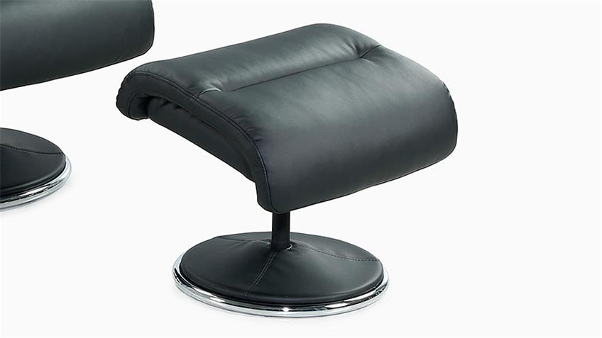Relaxsessel RICARDA Relax Chair in schwarz inkl. Hocker