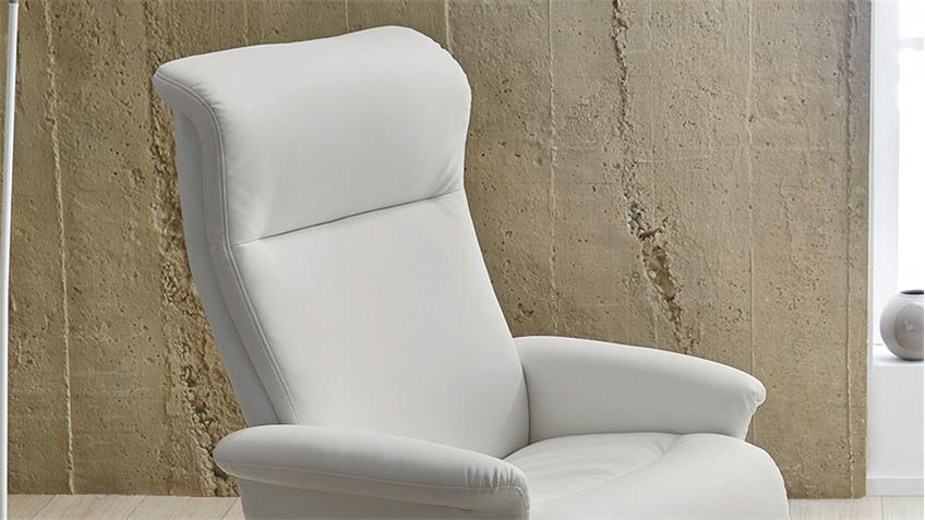 Relaxsessel RICARDA Relax Chair in weiß inkl. Hocker
