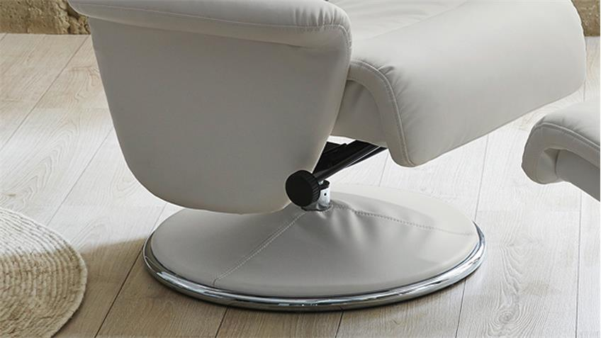 Relaxsessel RICARDA Relax Chair in weiß inkl. Hocker