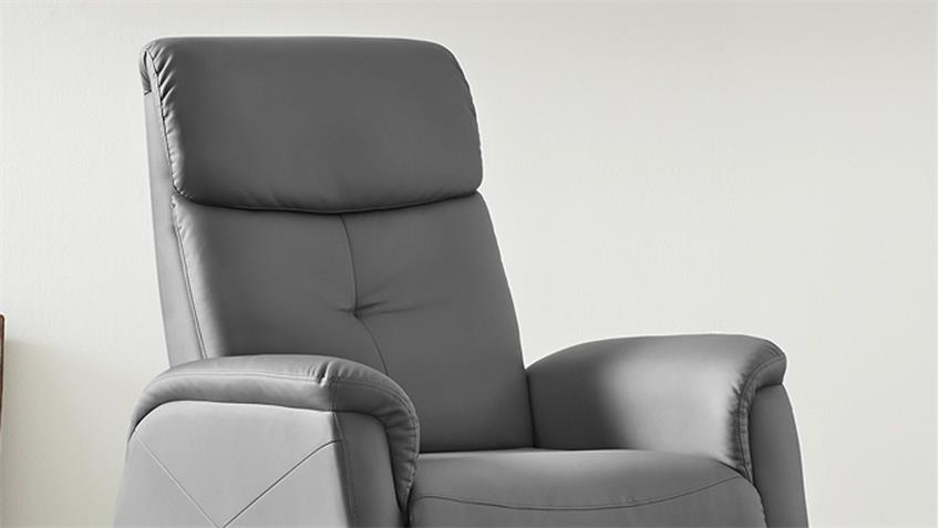 Fernsehsessel IRVINE Sessel in grau inkl. Nosagfederung