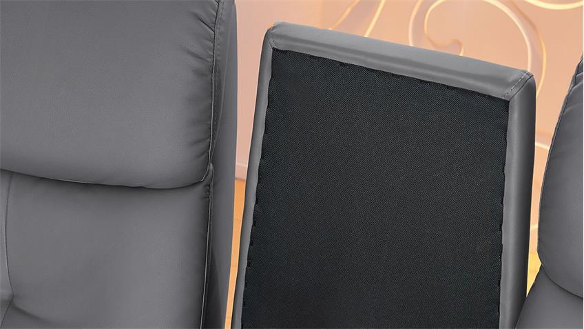 Cinemasessel IRVINE 2er Sessel in grau inkl. Nosagfederung