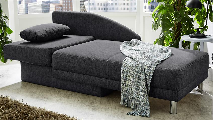 recamiere roy sofa funktionssofa anthrazit schlaffunktion bettkasten. Black Bedroom Furniture Sets. Home Design Ideas