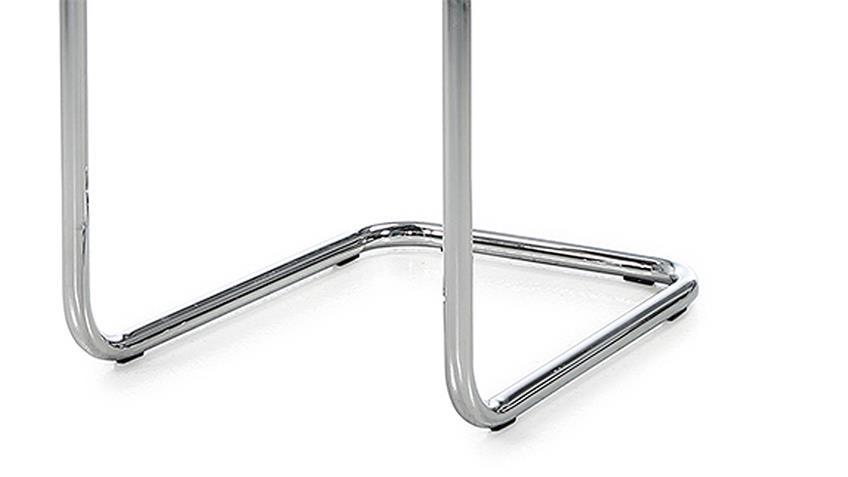 Schwingstuhl Prag 4er-Set Esszimmerstuhl Stoff grau Gestell verchromt