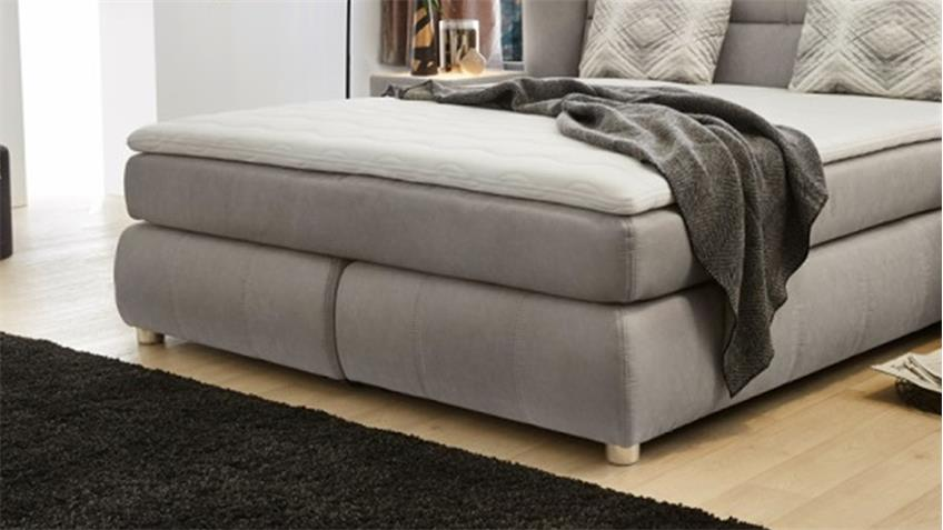 boxspringbett florentine bett polsterbett schlafzimmer grau 180x200. Black Bedroom Furniture Sets. Home Design Ideas