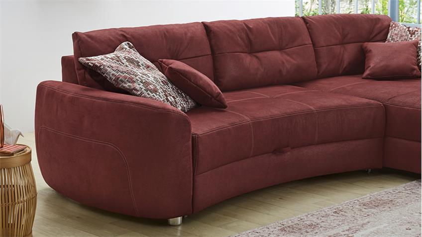 ecksofa largos wohnlandschaft sofa antik dunkelrot mit schlaffunktion. Black Bedroom Furniture Sets. Home Design Ideas
