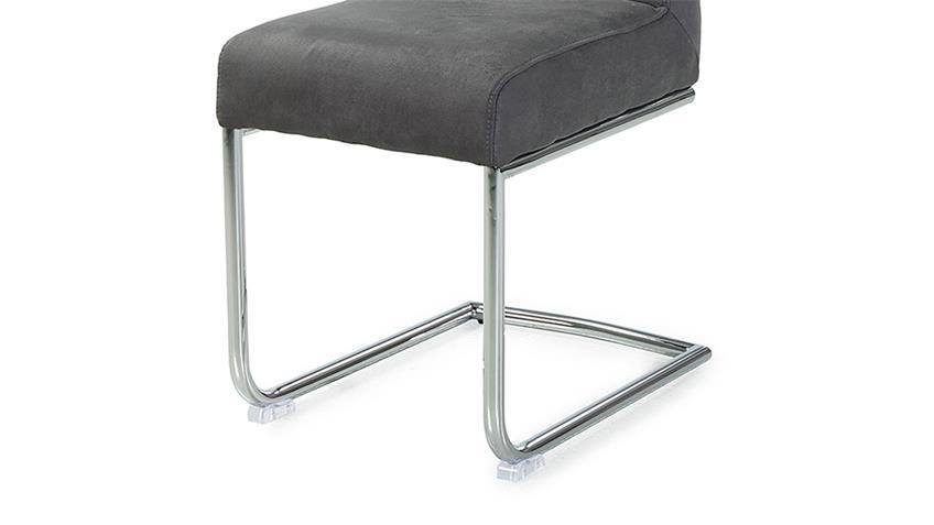 schwingstuhl floro 4er set stuhl in stoff grau inkl taschenfederkern. Black Bedroom Furniture Sets. Home Design Ideas