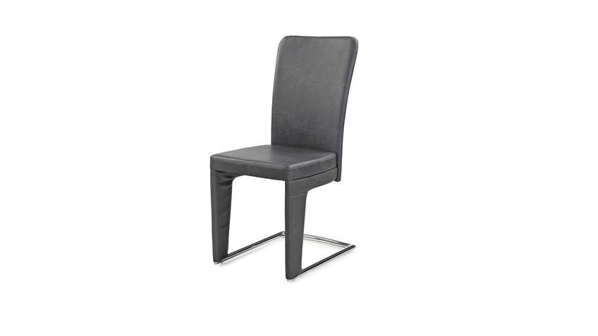 Schwingstuhl 2er Set HALTERN Stuhl Esszimmerstuhl in Vintage grau