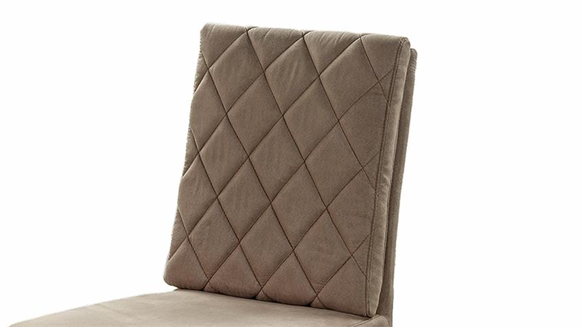 Schwingstuhl PINALA 4er-Set Stoff taupe Taschenfederkern