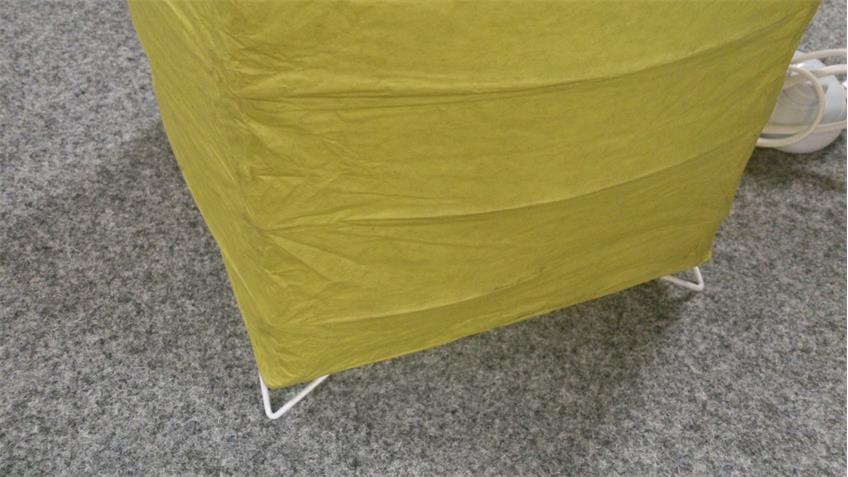 Papierschirm Stehleuchte grün Stehlampe für Leuchtmittel 2x E27