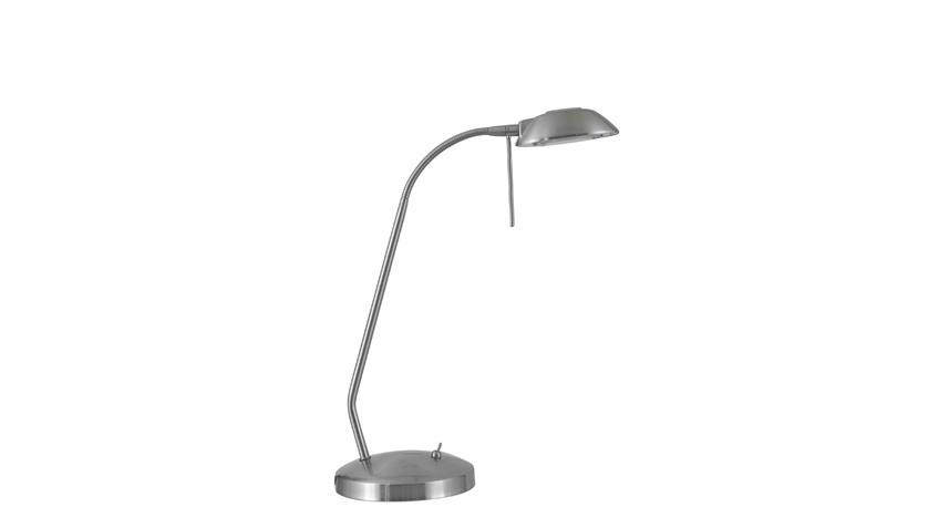 Schreibtischlampe Tischlampe Nickel matt Nachttischlampe