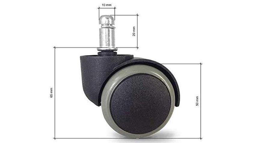Hartbodenrollen Ersatzrollen universell schwarz grau 11 mm