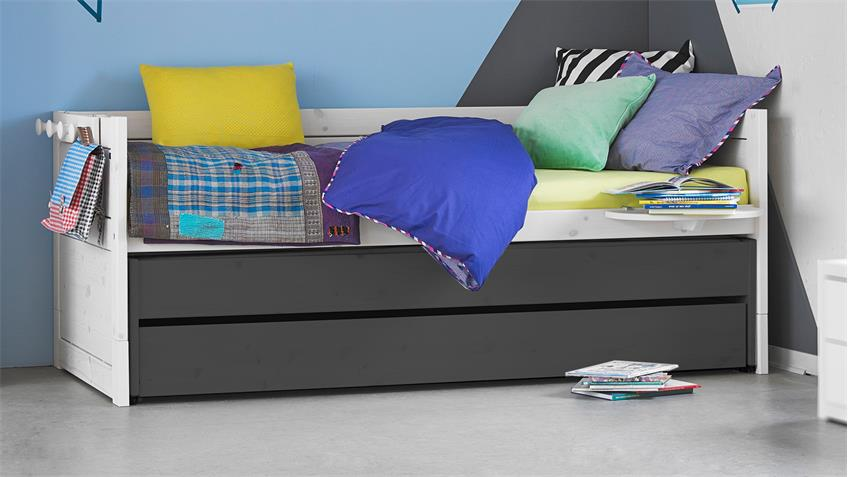 kinderbett lifetime kojenbett in kiefer massiv whitewash. Black Bedroom Furniture Sets. Home Design Ideas