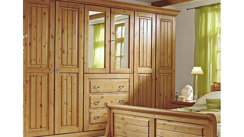 Schlafzimmer 1 MALTA Kiefer massiv Bernstein