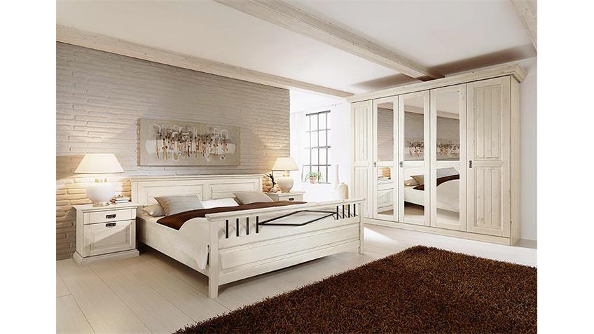 schlafzimmerset 2 malta schlafzimmer in kiefer massiv wei. Black Bedroom Furniture Sets. Home Design Ideas