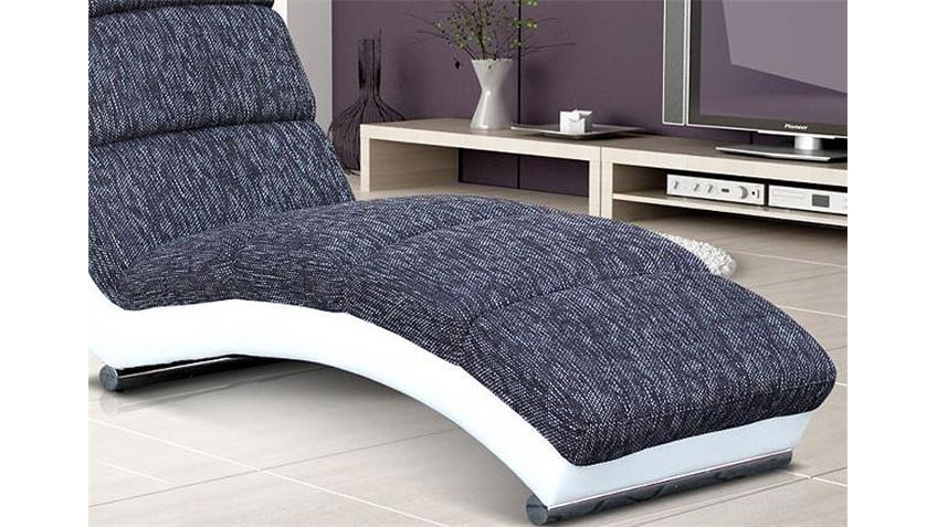 relaxliege holiday chaiselongue liege in wei und grau. Black Bedroom Furniture Sets. Home Design Ideas