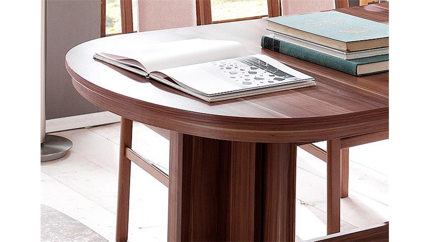 Esstisch NANCY ausziehbar 160-320 cm Walnuss