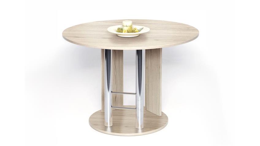 esstisch rondo ausziehbar 145x105 cm sonoma eiche. Black Bedroom Furniture Sets. Home Design Ideas