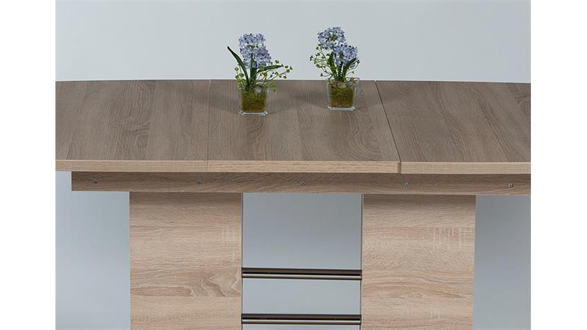 Esstisch LAILA Tisch Eiche sägerau ausziehbar 160-200 cm