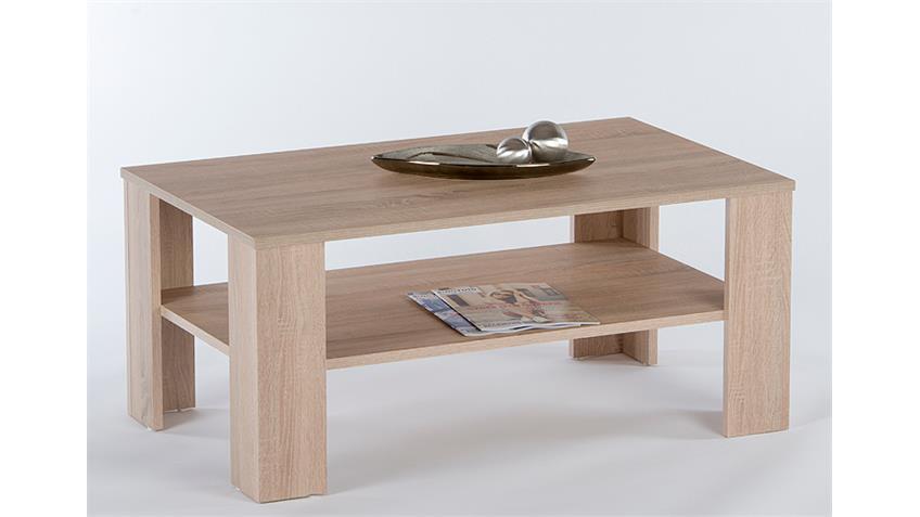 Couchtisch OTTAWA Beistelltisch Tisch in Eiche sägerau