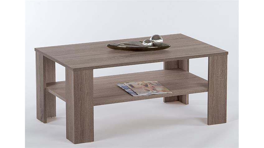 Couchtisch OTTAWA Beistelltisch Tisch in Trüffel 110 cm