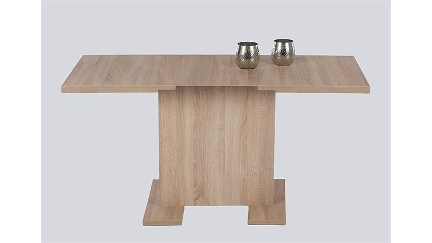 Esstisch SARAH Tisch Eiche sägerau ausziehbar 110-150 cm