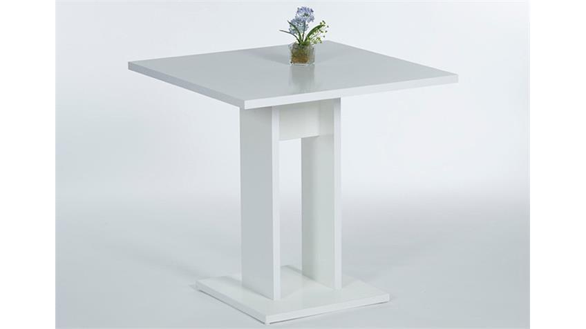 Esstisch MARIE in weiß ohne Auszug 75x75 cm